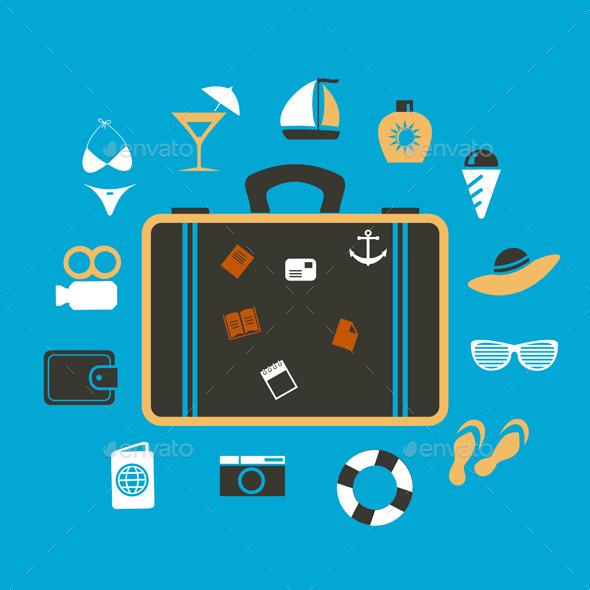 Suitcase Travel - Miscellaneous Vectors