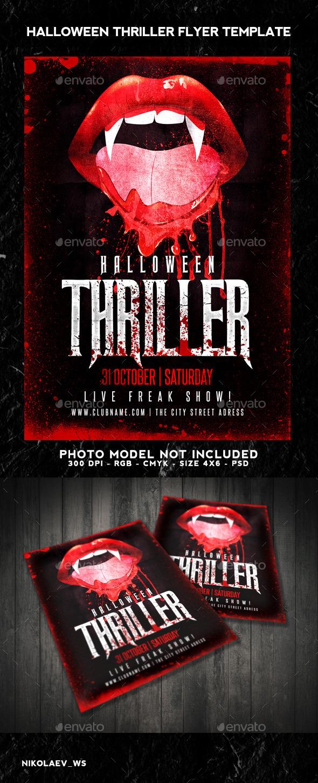 Halloween Thriller Flyer