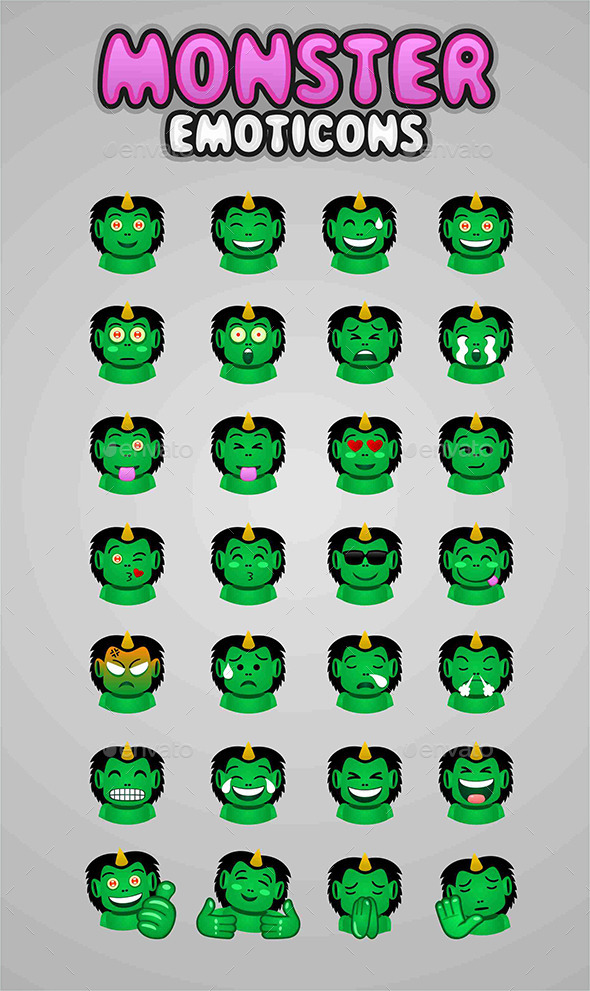 Monster Emoticons - Miscellaneous Characters