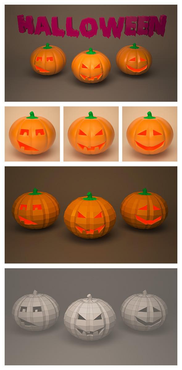 Halloween pumpkin pack - 3DOcean Item for Sale