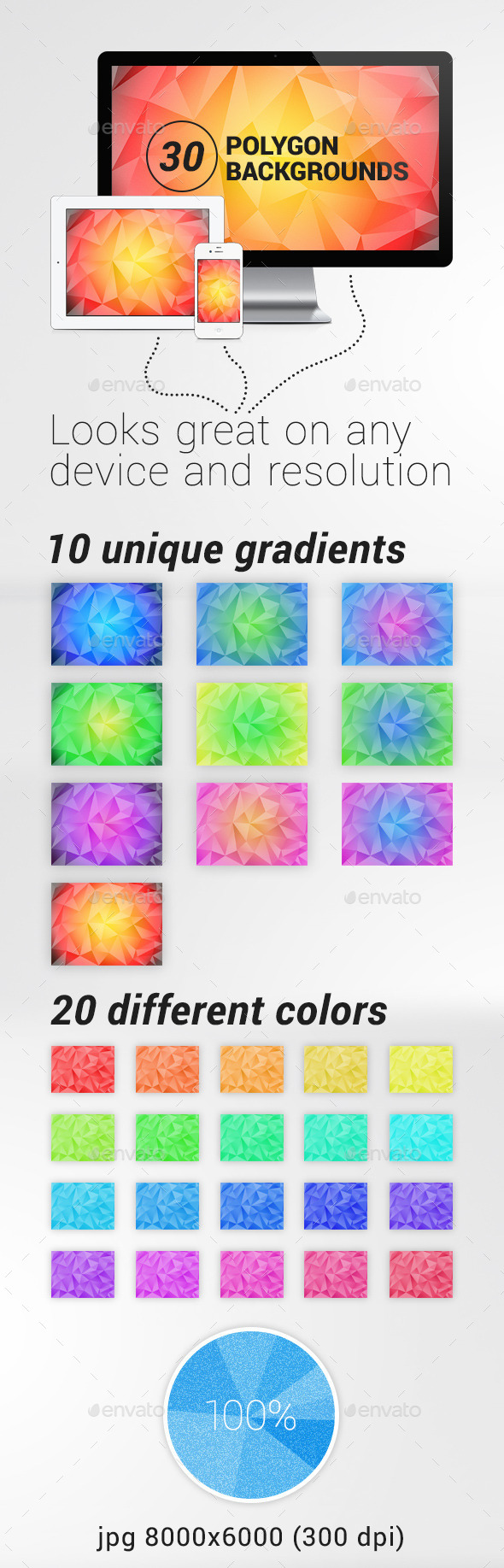 30 Polygon Backgrounds - Abstract Backgrounds