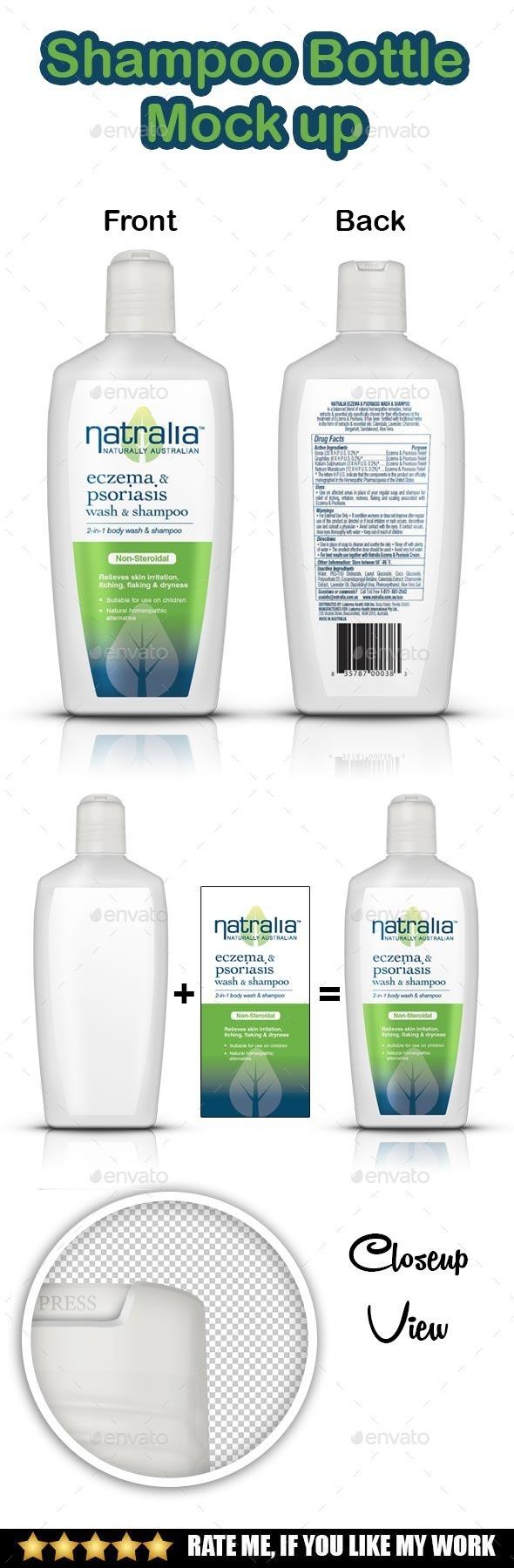 Shampoo Bottle Mockup - Product Mock-Ups Graphics