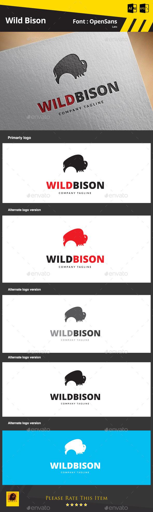 Wild Bison - Animals Logo Templates