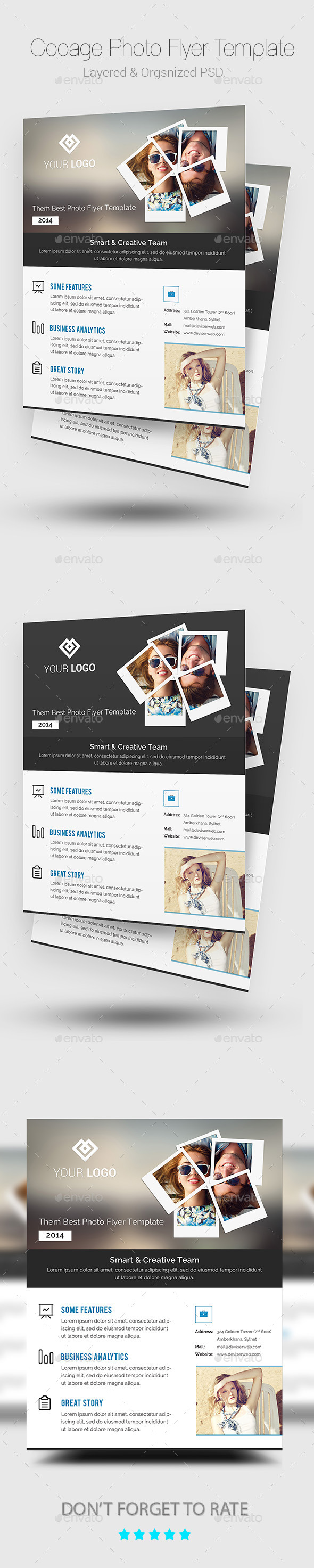 Collage Photo Flyer/Poster Template - Corporate Flyers