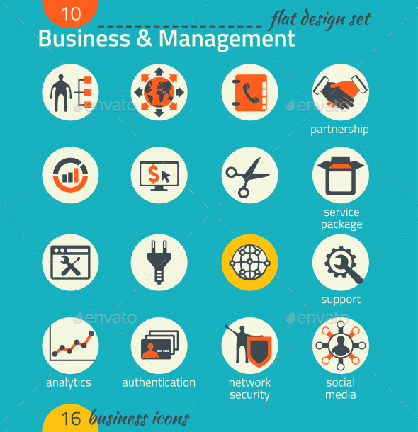 Business Icon Set. Software and Web Development - Business Icons