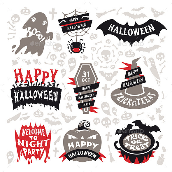 Halloween Labels Set - Halloween Seasons/Holidays