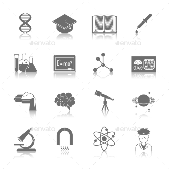 Science and Research Icon Black - Technology Icons