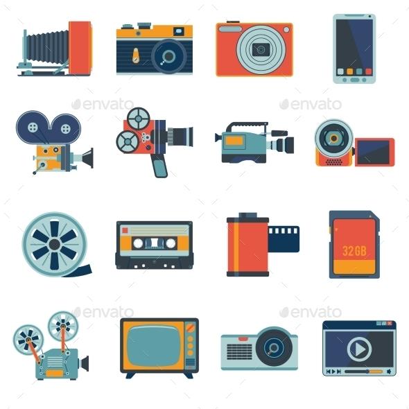 Photo Video Icons Set - Technology Icons