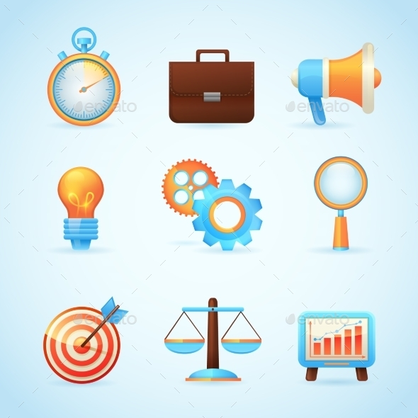 SEO Internet Marketing Icons - Web Elements Vectors
