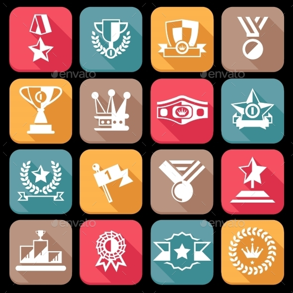 Award Icons Set - Web Icons