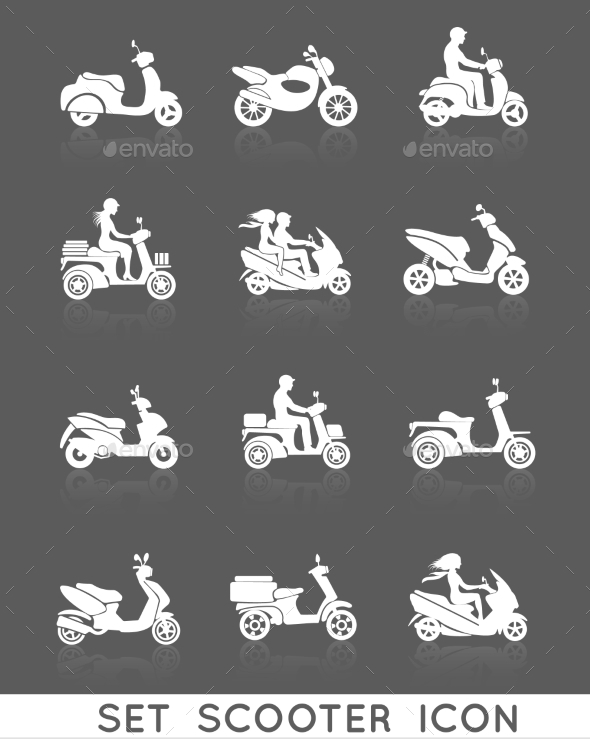 Scooter Icons Set - Technology Icons