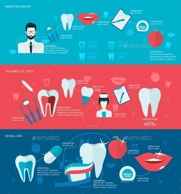 Teeth Banner Set - Health/Medicine Conceptual