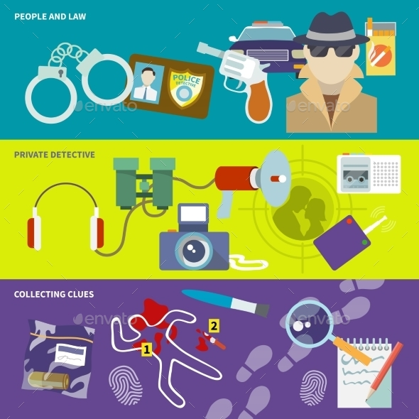 Detective Banner Set - Concepts Business