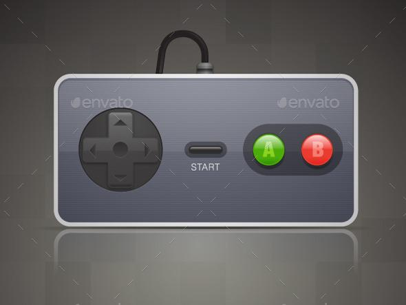 Retro Joypad - Objects Vectors