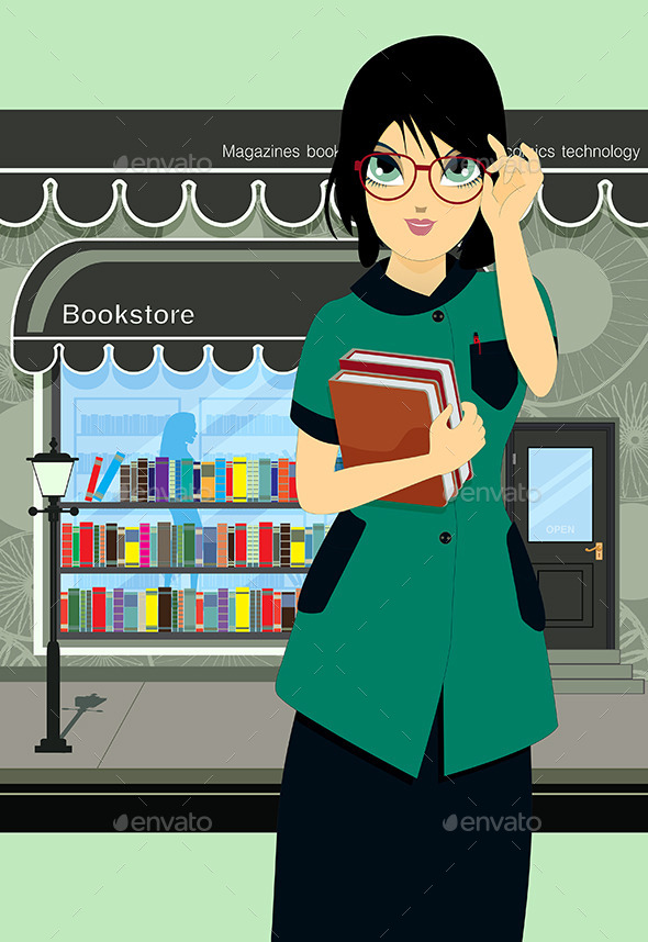 Student Book Store - People Characters