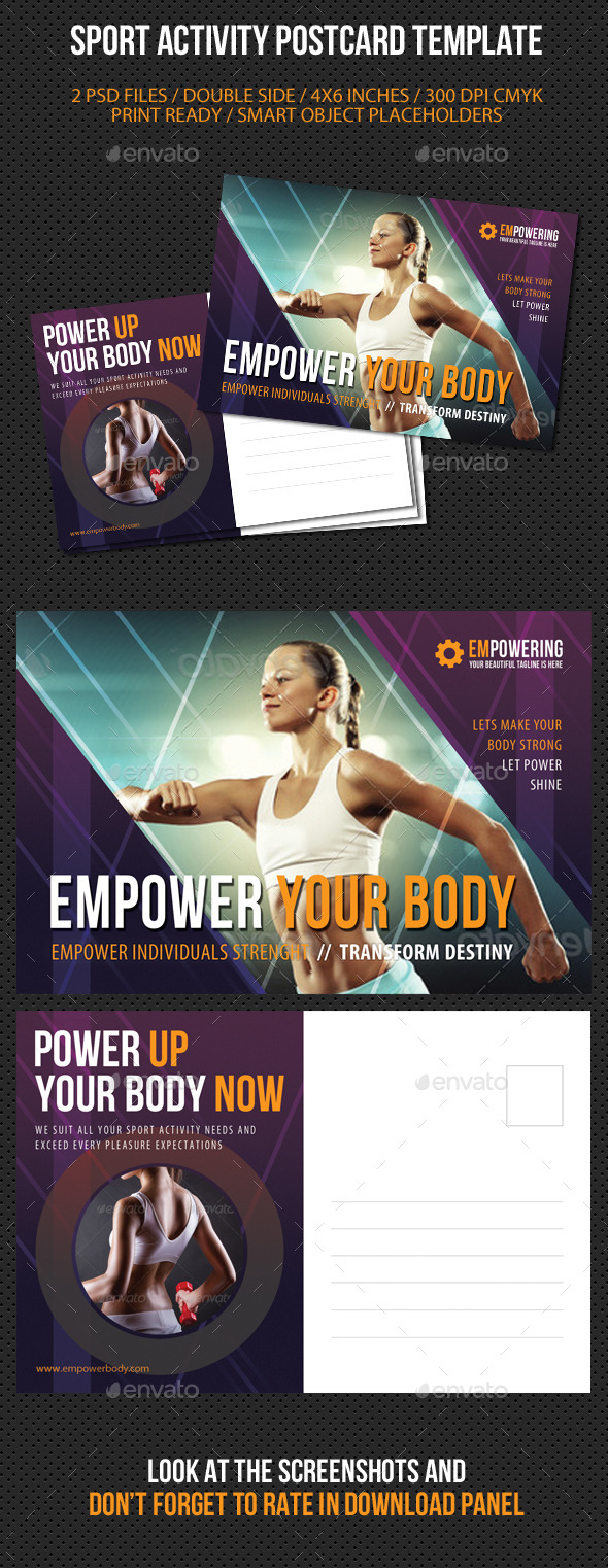 Sport Activity Postcard Template V02 - Cards & Invites Print Templates
