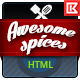 Awesome Spice - Restaurant / Cafe HTML Template - ThemeForest Item for Sale