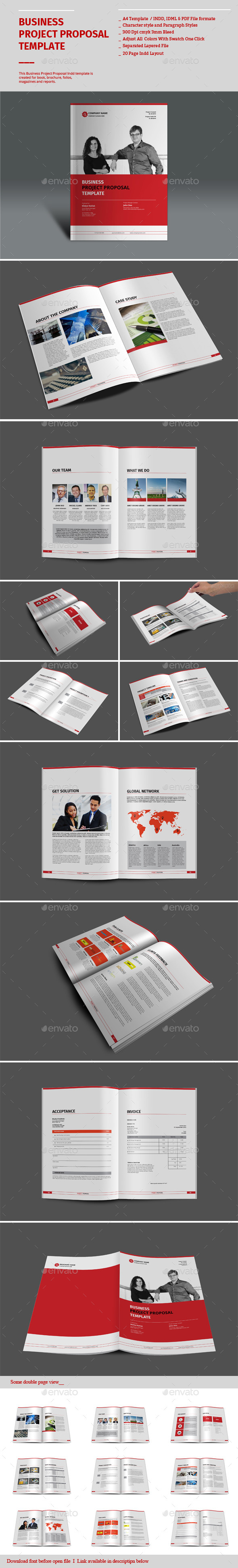 Business Project Proposal Templates - Proposals & Invoices Stationery