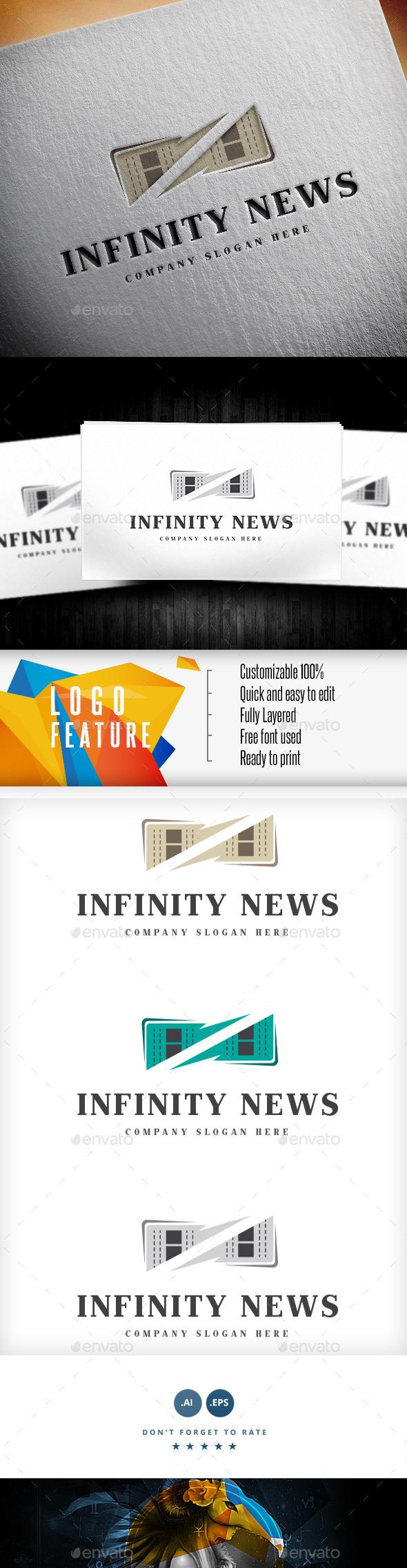 Infinity News Logo - Logo Templates