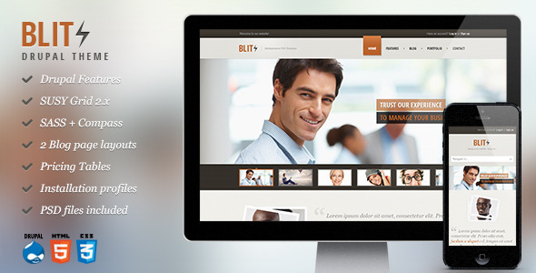 Blitz - Responsive Multi-Purpose Drupal Theme - Corporate Drupal