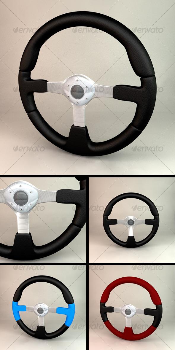Steering Wheel - 3DOcean Item for Sale