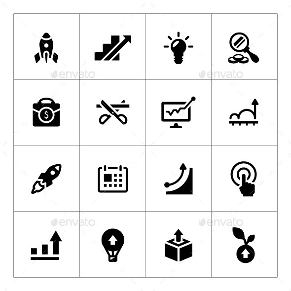 Set Icons of Start-up - Business Icons