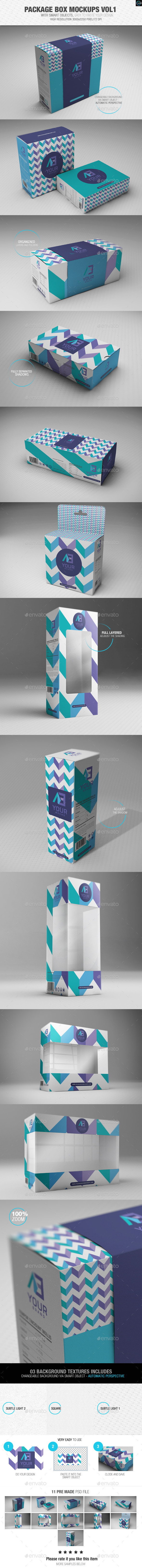 Package Box Mockups Vol1 - Packaging Product Mock-Ups