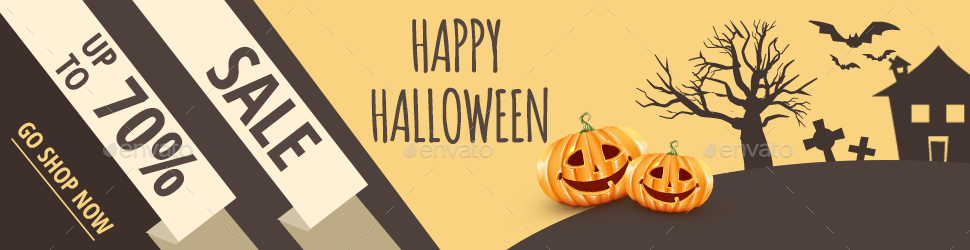 Happy Halloween Banner by RedCatStudio | GraphicRiver