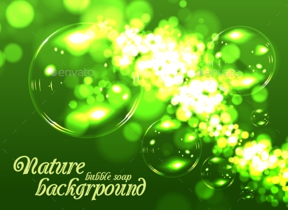 Bubble Soap Background - Nature Conceptual