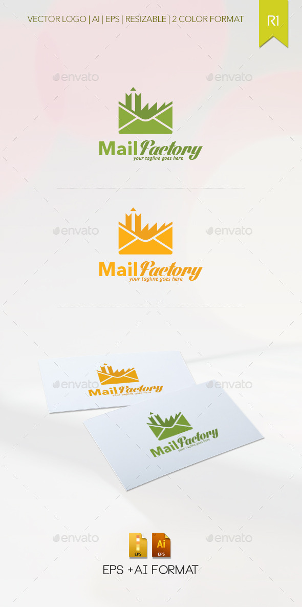 Mail Factory Logo Template - Abstract Logo Templates
