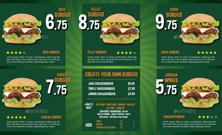 burns supper menu template - the big burger menu by serzik graphicriver