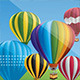 Hot Air Balloons in the Blue Sky - GraphicRiver Item for Sale