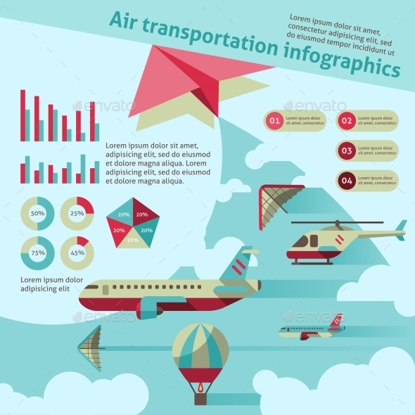 Air Transport Infographics - Infographics