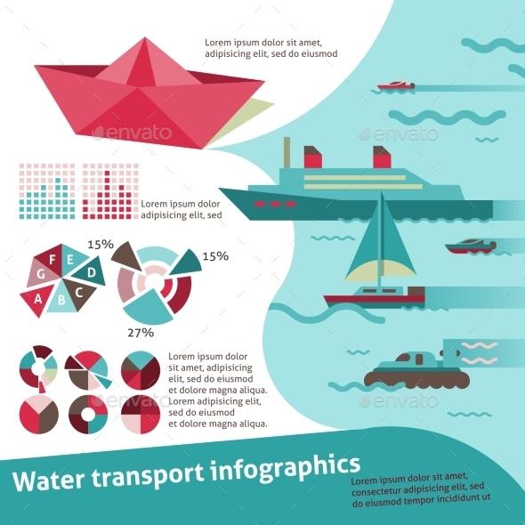 Water Transport Infographics - Infographics