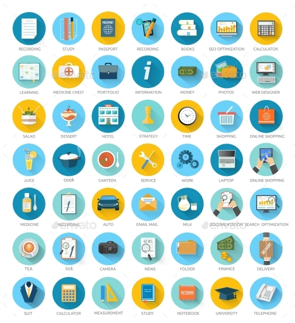 Social media, Seo, Online Shopping Icons - Technology Conceptual