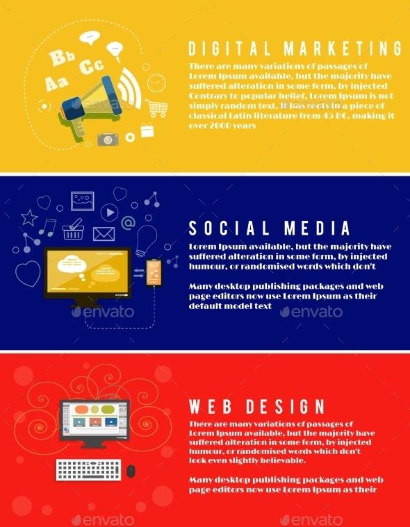Web Design, Seo, Social Media - Technology Conceptual