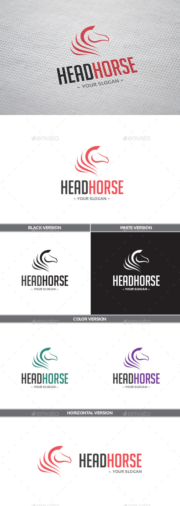 HeadHorse Logo - Animals Logo Templates