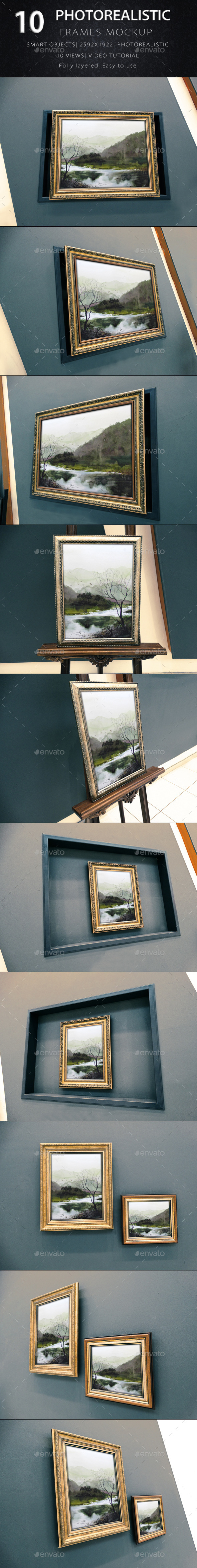 Photorealistic Frame Mock Up Vol.3 - Product Mock-Ups Graphics