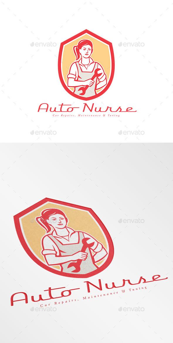 Auto Nurse Car Maintenance Logo - Humans Logo Templates
