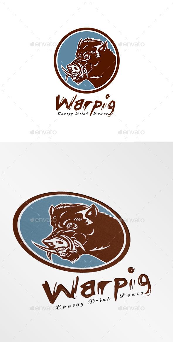 Warpig Energy Drink Logo - Animals Logo Templates
