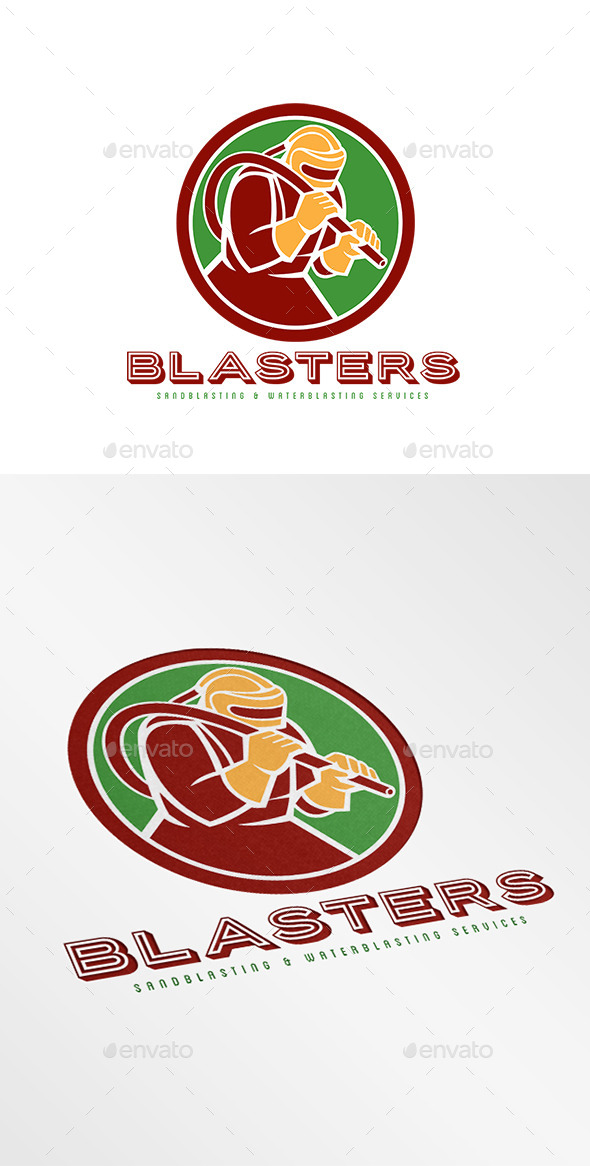 Blasters Sandblasting Logo - Humans Logo Templates