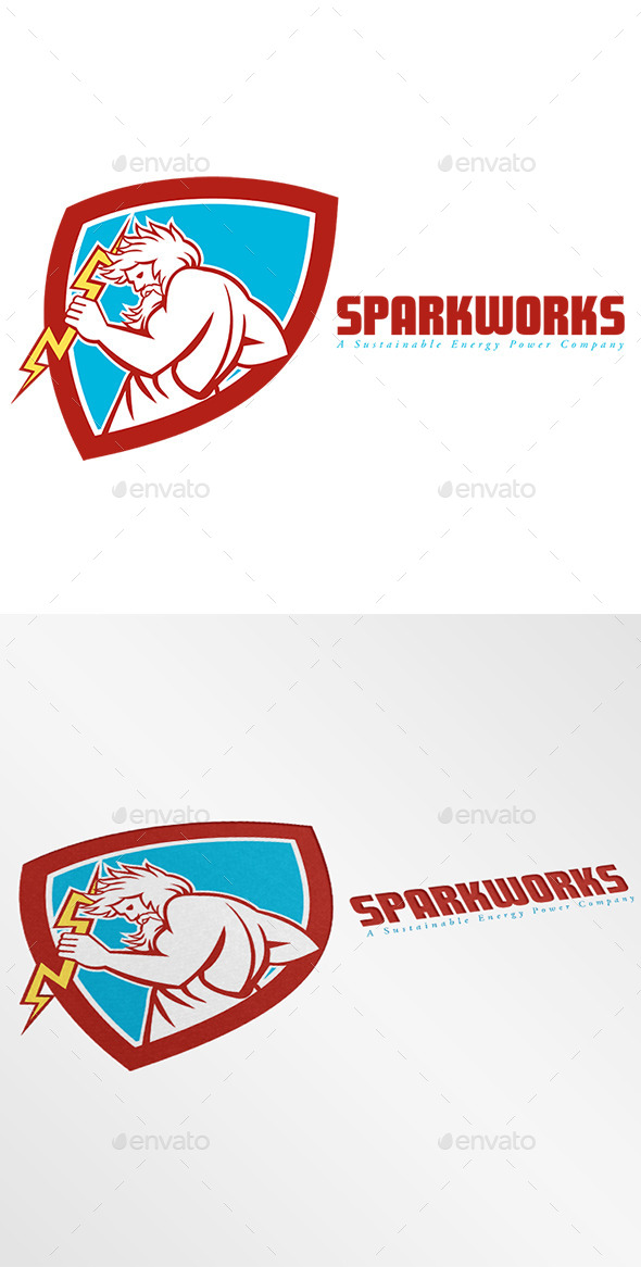Sparkworks Power Company Logo - Humans Logo Templates