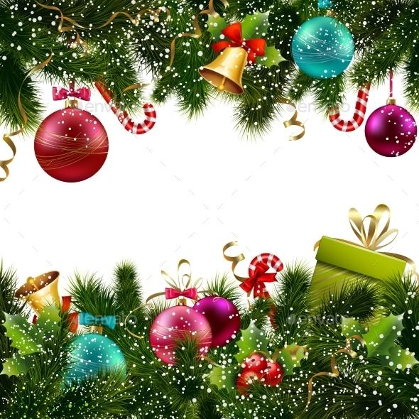 Christmas Decoration Border - Borders Decorative