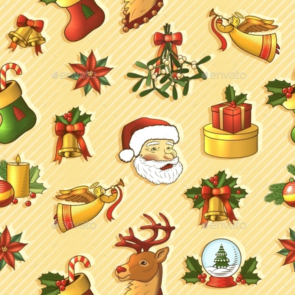 Christmas Seamless Pattern - Christmas Seasons/Holidays