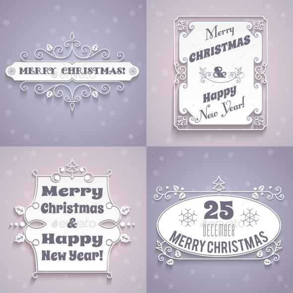 Christmas Labels White Set - Christmas Seasons/Holidays