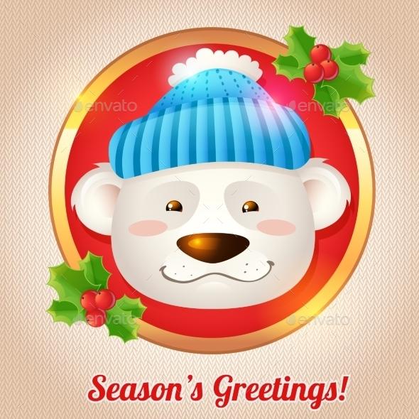 Christmas Bear Card - Christmas Seasons/Holidays