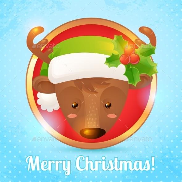 Christmas Deer Card - Christmas Seasons/Holidays