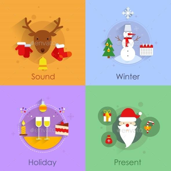Christmas Flat Set - Christmas Seasons/Holidays