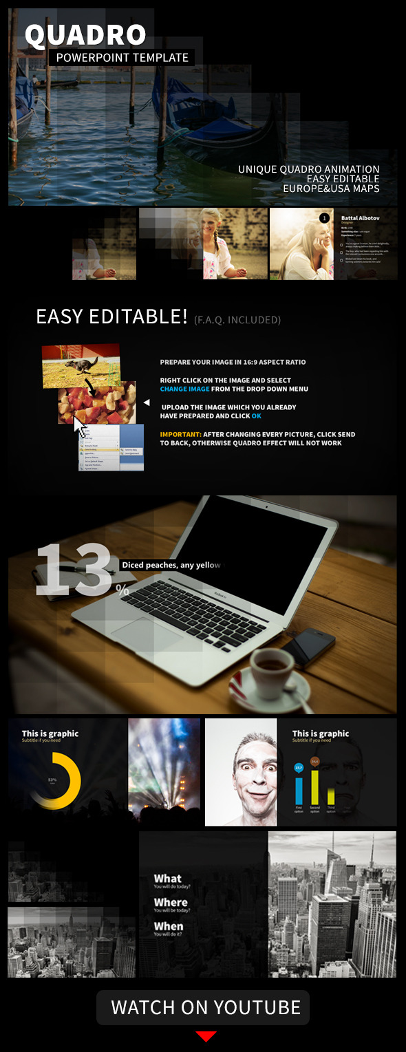 Quadro Animated PowerPoint Presentation Template - PowerPoint Templates Presentation Templates