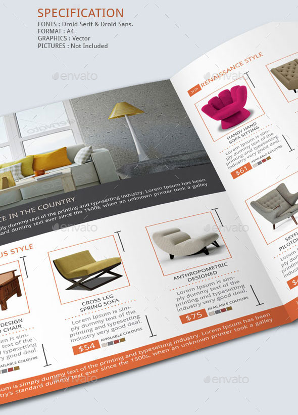 furniture store brochure template by blogankids